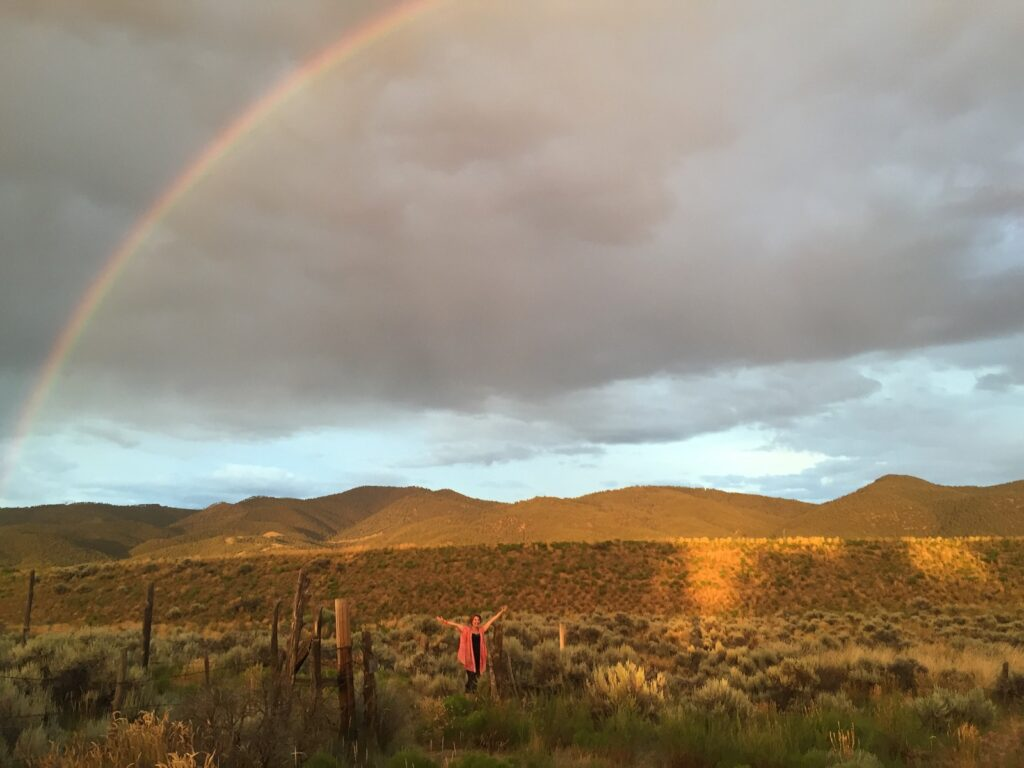 Jen Louden - Rainbow at Taos Writing Retreat