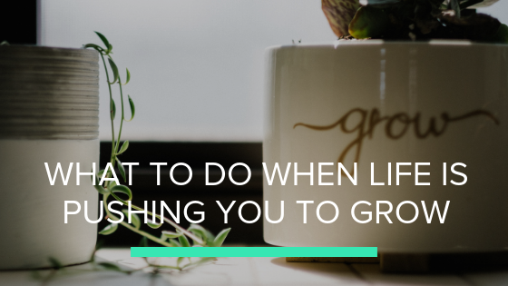 What to do When Life is Pushing you to Grow