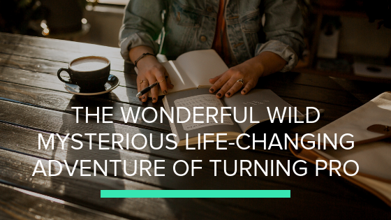 The wonderful wild mysterious life changing adventure of turning pro